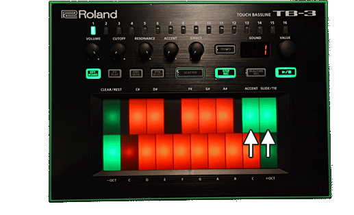 TB-3 accent slide settings