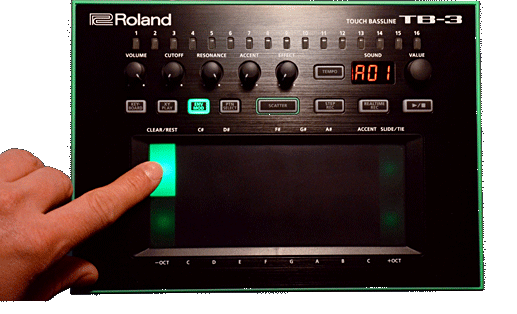 TB-3 envelope mod decay settings