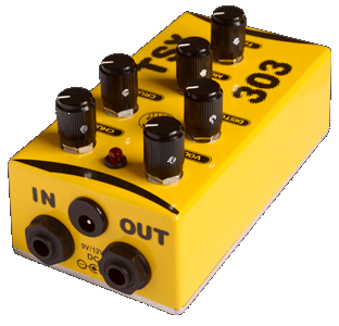 tsx 303 distortion in out overdrive effect pedal